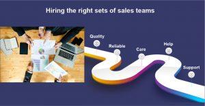Hiring the right sets of sales teams
