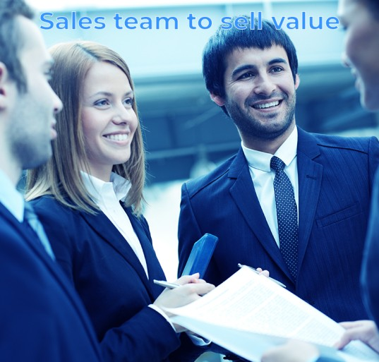 Sales team to sell value